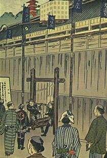 江戸期舞台上の絵
